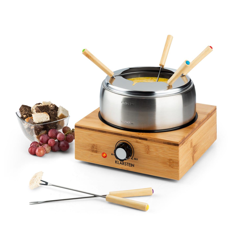 Bamboe fondue roestvrij stalen pan 800W