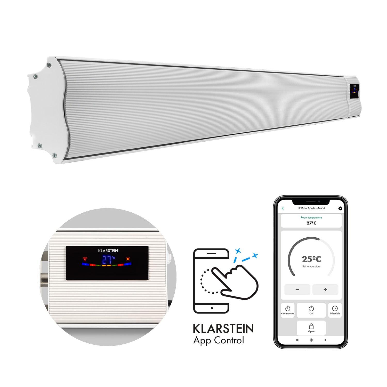 Klarstein Cosmic Beam Smart 30, infracrveni grijač, 3000 W, kontrola primjene, bijela