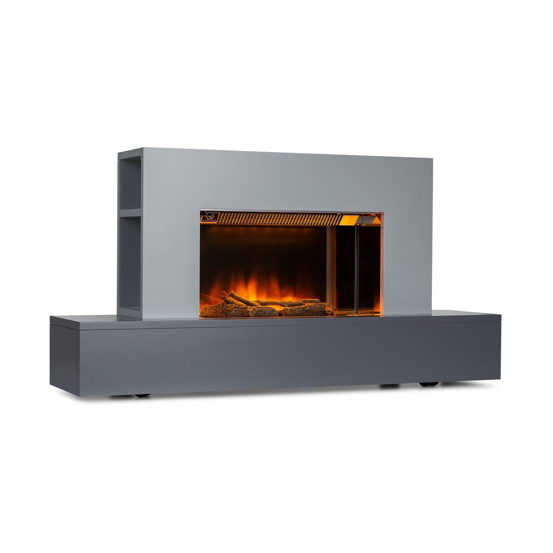 Heat 'n Beat, električni kamin, 900/1800 W, LED, bluetooth zvučnik, siva