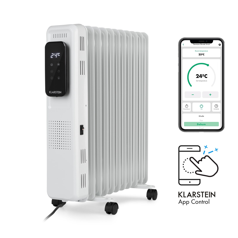 Thermaxx Elevate Smart, uljni radijator, 2720 W, 7 - 35 ° C, 24 sata timer, bijela