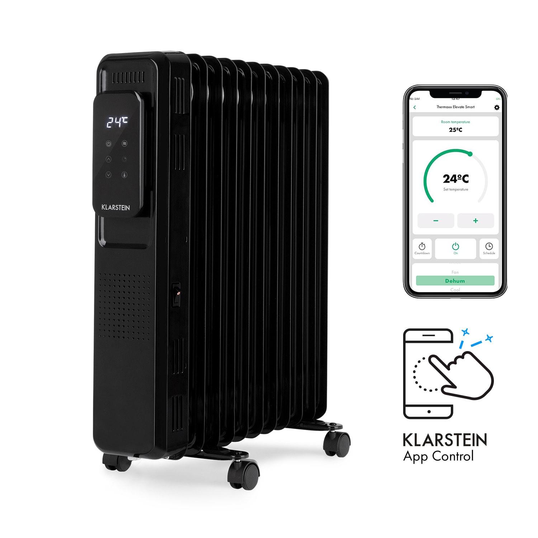 Thermaxx Elevate Smart, olejový radiátor, 2720 W, 7 – 35 °C, 24-hod. časovač, biely