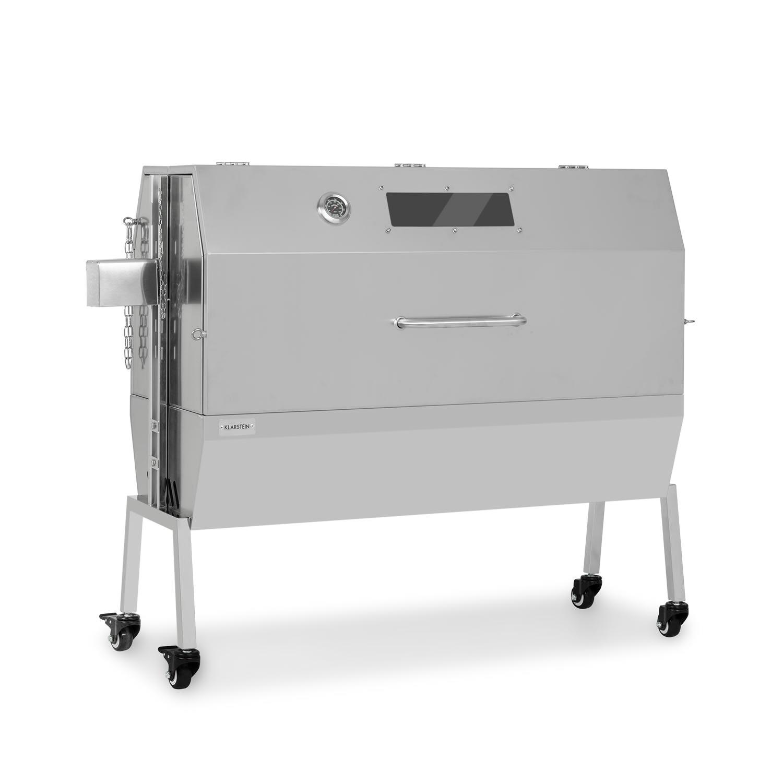 Sauenland Pro XL speenvarkengrill draaispit 15W 4 rollen rvs
