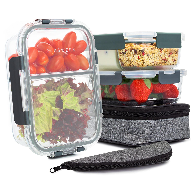 Glaswerk Hopewell pojemniki do przechowywania żywności, zestaw 3-częściowy, 1040 ml, szkło borokrzemowe, torba