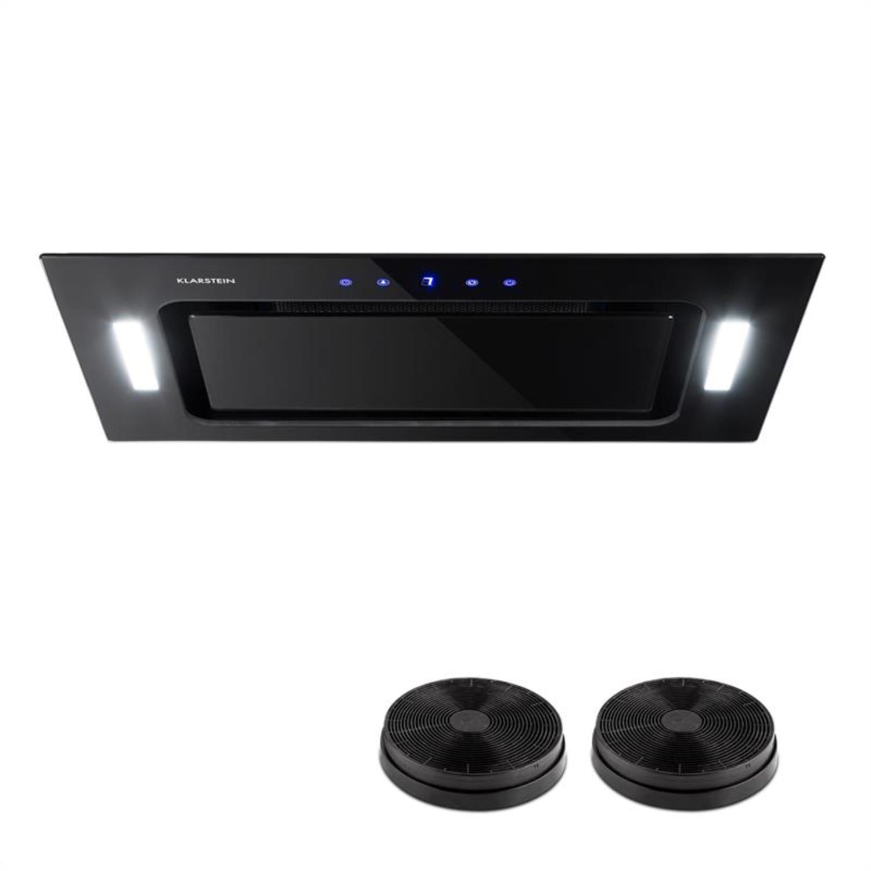 HEKTOR afzuigkap verlichting aluminium filter timer zwart