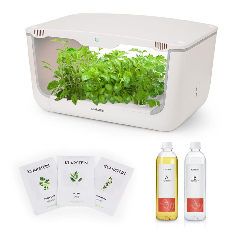 GrowIt Farm Starter Kit Europe, 28 rostlin, 48 W, 8 l, semena Europe Seeds, živný roztok