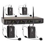 Duet Quartet Fix V3 4-Channel UHF Wireless Microphone Set 50m