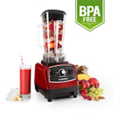 Herakles 2G Standmixer Power-Blender Hochleistungsmixer Smoothie  Maker | Leistungsstark: 1200 Watt / 1,6 PS / 32.000 U/min | BPA-freier Mixkrug  mit 2 Liter Volumen | Puls-Funktion | 6 rostfreie Edelstahlklingen |  Zerkleinerer | Icecrusher | rot