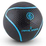 Rotunder Medizinball 6kg Gummi schwarz