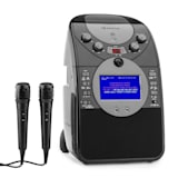auna ScreenStar Chaîne karaoké caméra CD USB MP3 + 2 microphones -noir