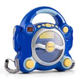 auna Pocket Rocker Lecteur CD karaoké enfant Sing-A-Long 2 micros -bleu