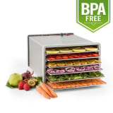 Fruit Jerky Pro 6 Automatic Food Dehydrator Dryer 630W 6 Floors Stainless Steel