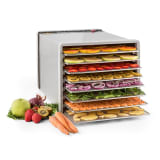 Fruit Jerky Pro 8 Automatic Food Dehydrator 630W 8 Levels Stainless Steel
