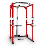 CAPITAL SPORTS Tremendour Pl Power Rack Homegym lat pulldown staal rood wit