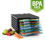 Fruit Jerky 6 Basic Dehydrator Machine Food Dryer 630W 6 Floors BPA Free