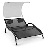 Dandyland Two-seater Swinging Lounger 130x200cm Canopy Grey