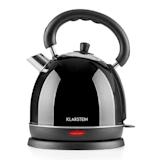 Klarstein Teatime Waterkoker Theepot 1850 - 2200 W 1,8 l Roestvrij staal zwart