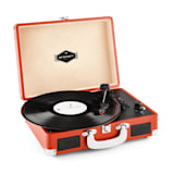 Peggy Sue Retro-Plattenspieler Vinyl LP USB Line Out dark orange