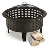 Blumfeldt Boston Fire Bowl Fire Pit Ø 70 cm Steel Blackened