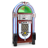auna Graceland TT Jukebox Bluetooth Phono lecteur CD USB SD MP3 AUX FM