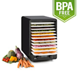 Fruitcube Dehydrator 550 W 10 Floors Dehydrator Black/Red