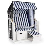 Blumfeldt Hiddensee Cabina Sdraio XL 2 Posti a strisce blu/bianco