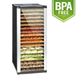 Fruit Jerky 18 Dehydrator 1000 W 18 Stainless Steel Tiers Black