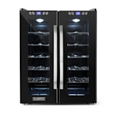SaloonNapa, hladnjak za vino, volumen 67 litara, 2 staklena vrata, 11-18°C, crna boja