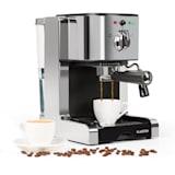 PASSIONATA 20, aparat de cafea pentru producerea cafelei espresso, 20 bar, capuccino, spumă de lapte, culoare argintie