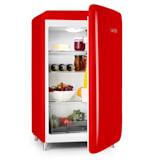 PopArt-Bar červená chladnička, 136l retro dizajn, 3 poschodia, priečinok na zeleninu, A+