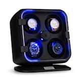 Clover, naťahovač na hodinky, 4 hodiniek, 3 otáčania, 4 rýchlosti, modré LED osvetlenie, plastový kryt