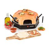 Klarstein Capricciosa Forno para Pizzas 1500W Cobertura de Terracota Função de Manutenção da Temperatura