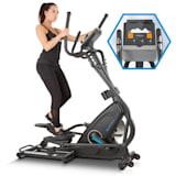 CAPITAL SPORTS Helix Star MR Bicicleta elíptica Bluetooth App Volante de inercia 21 kg