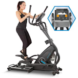 CAPITAL SPORTS Helix Star MR Cross Trainer Bluetooth App Massa Volanica 21 kg