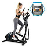 CAPITAL SPORTS Helix Track Cross Trainer Bluetooth App Massa Volanica 18kg