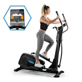 CAPITAL SPORTS Helix Pro Cross Trainer Bluetooth App 20 kg di Massa Volano