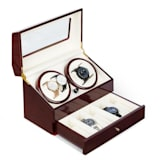 Klarstein Geneva Watch Winder 4 Watches 4 Modes Drawer Rosewood Look