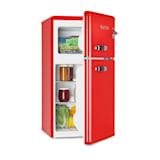 Irene, retro hladnjak sa zamrzivačem, 61 l hladnjak, 24 l zamrzivač, crveni