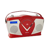 auna RCD-70 DAB Retrò CD-Radio UKW DAB+ CD-Player USB Bluetooth rosso