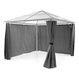 Blumfeldt Pantheon Solid Sky Pavilion Side Panels 4 Pieces 140g / m² Polyester Grey