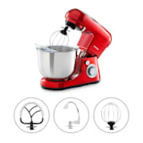 Klarstein Bella Pico 2G Food Processor 1200W 1.6PS 6 Levels 5 Litres Red