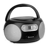 auna Haddaway CD Boombox CD Player Bluetooth FM AUX-IN LED Display Black