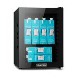 MilkySafe Minikühlschrank Milchkühlschrank | Kompressionskühlsystem |  23  Liter Fassungsvermögen | 5 Kühlstufen: 0 - 10 °C |Energieeffizienzklasse A+ |  geräuscharm: 39 dB | 8 Gehäusedurchleitungen für Schlauchsysteme bis 6 mm | Glastür | schwarz