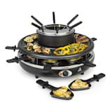 Fonduelette, raklette grillsütő és fondue, 1350 W, 1 liter, Ø 38 cm, 8 személyes