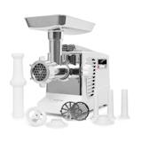 Kraftprotz, elektrický mlýnek na maso, 700 W, měděný motor, bílý/stříbrný