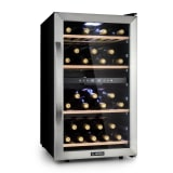 Klarstein Vinamour 45D Wine Fridge 2 Zones 118 Ltr / 45 Bottles 5-18 ° C Stainless Steel