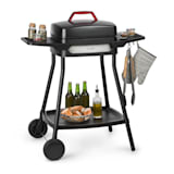 Klarstein Gatsby Electric Grill 2000W Non-Stick Grill Surface Side Tables Black