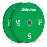 Nipton 2021 Bumper Plate Gewichtsplatte | 2 x 10 kg |  Stahlinnenring | 50,4 mm Aufnahmeöffnung | Hartgummi