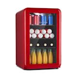PopLife 65L Getränkekühler | Kühlschrank | Retro-Design | Fassungsvermögen: 70 Liter | Temperatur: 0-10 °C | Energieeffizienzklasse A+ | mechanischer Drehregler | LED | anpassbare Füße | doppelt verglaste Fronttür