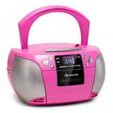 Harper CD Boombox Reproductor de CD Bluetooth Kassette UKW AUX USB