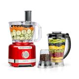 Luca Multifunktionsmixer Standmixer Zerkleinerer Küchenreibe Saftpresse Food Processor | 1000 Watt | stufenlos | 6 Modi | BPA-frei | 3 Liter | 3 l Messbecher | Spatel